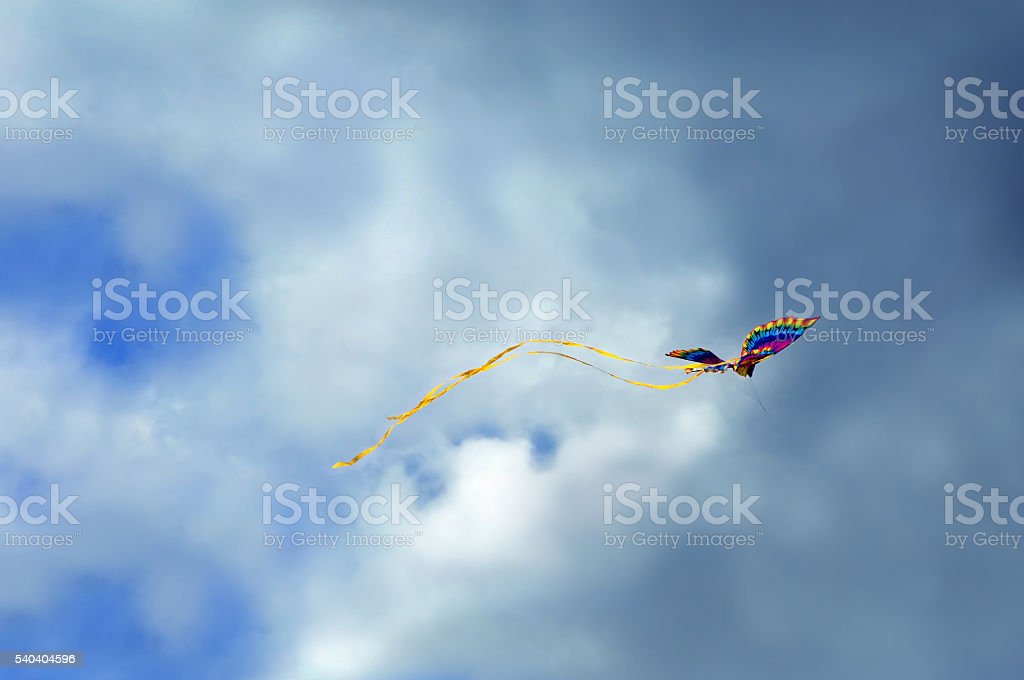 Flying into a storm stock photo