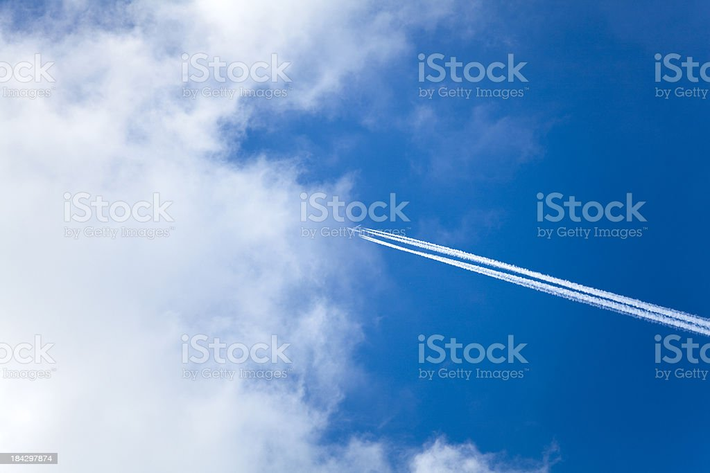 flying into the clouds royalty-free stock photo
