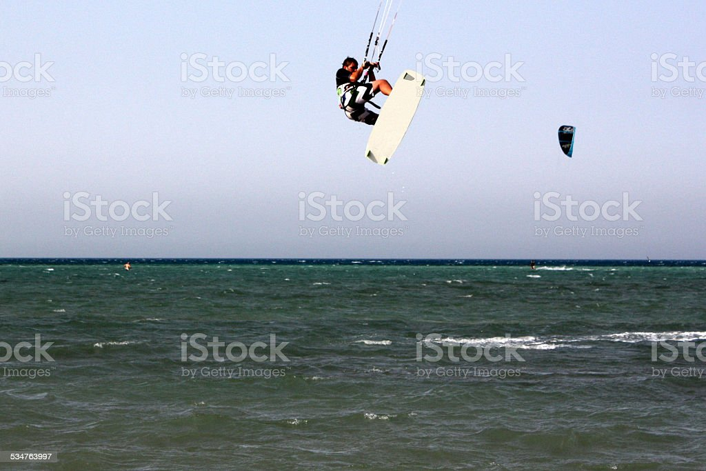 Voar kite Surfista foto de stock royalty-free