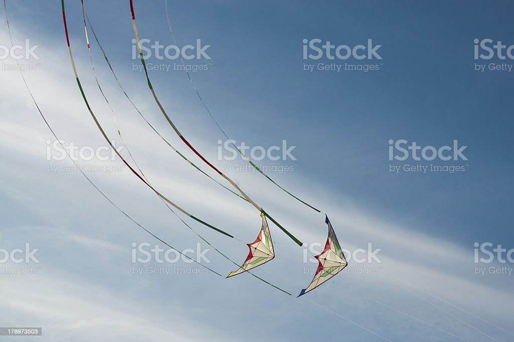 Flying kites royalty-free stock photo