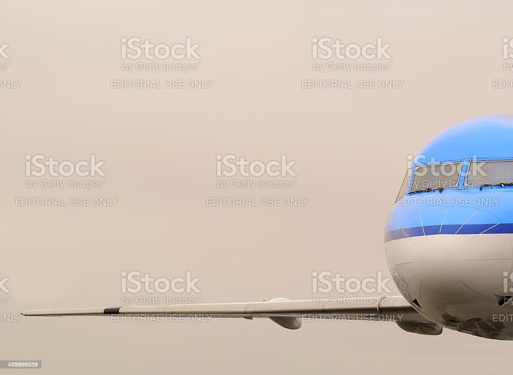 Flying KLM Airplane stock photo