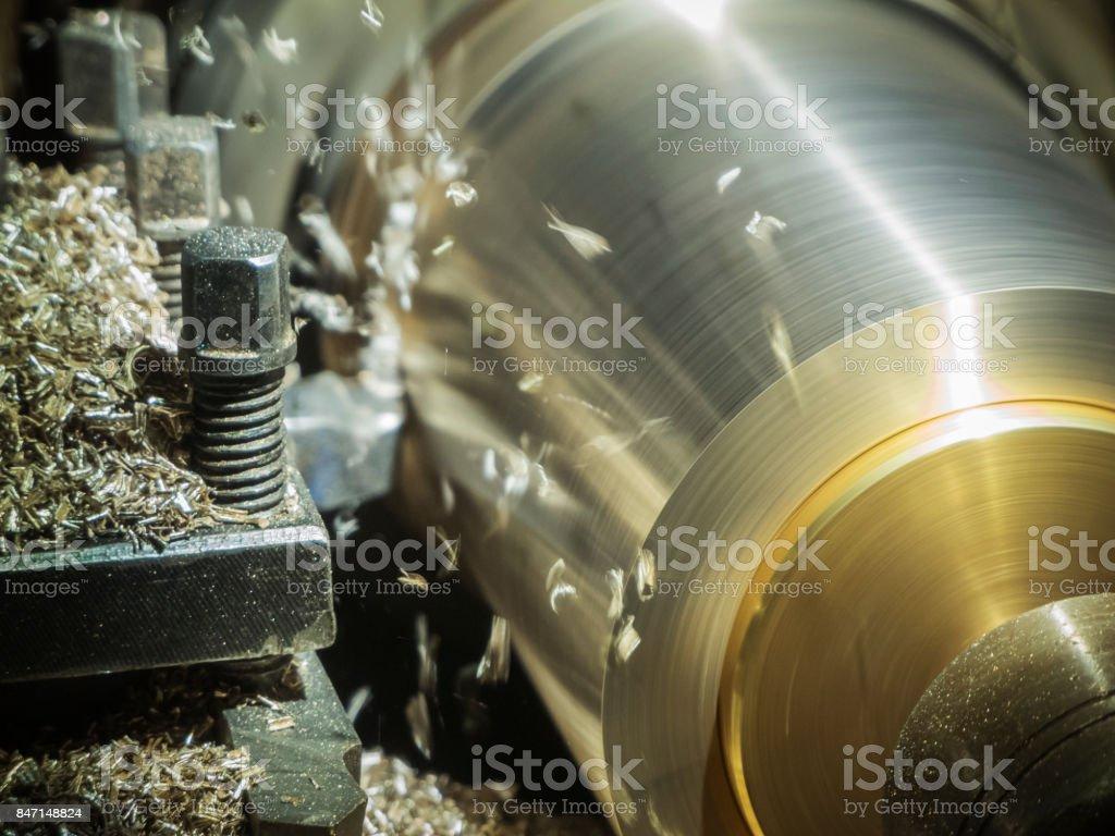 Flying Metal Shavings stock photo