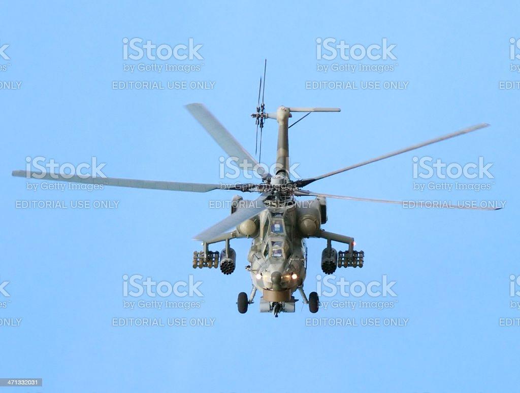 Flying Mil Mi-28 stock photo