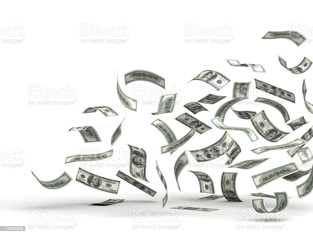 Flying Money (Dollar) royalty-free stock photo