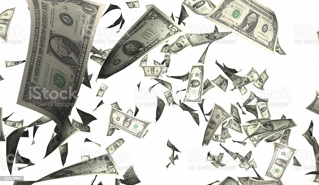 Flying money royalty-free stock photo