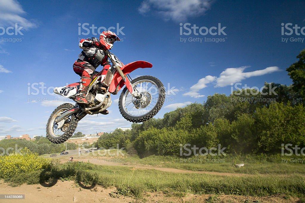 flying moto royalty-free stock photo