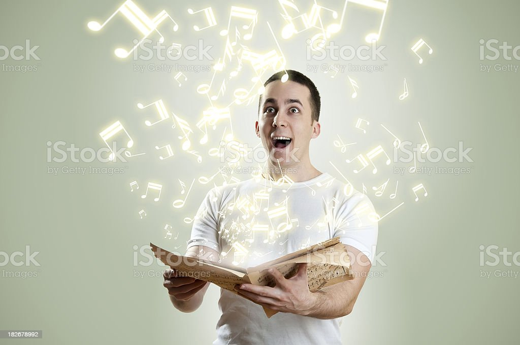Flying music note royalty-free stock photo