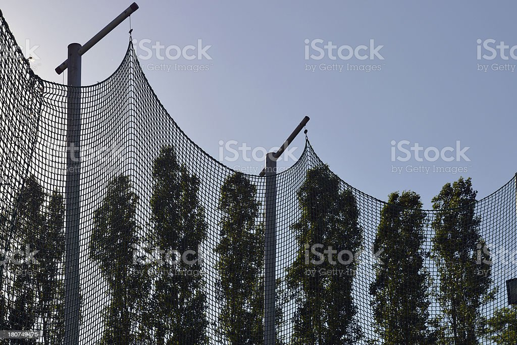 Flying net and trees royalty-free stock photo