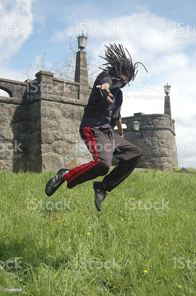 Flying Ninja stock photo