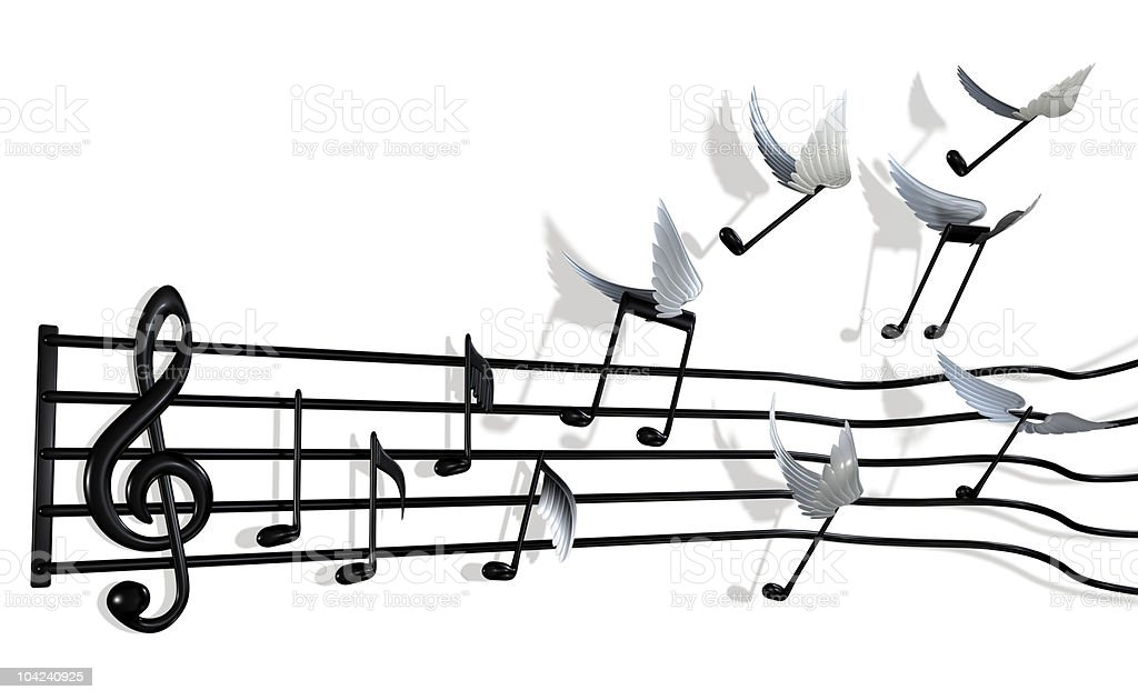Flying Notes royalty-free stock photo