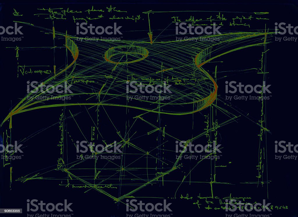 flying object sketch royalty-free stock photo