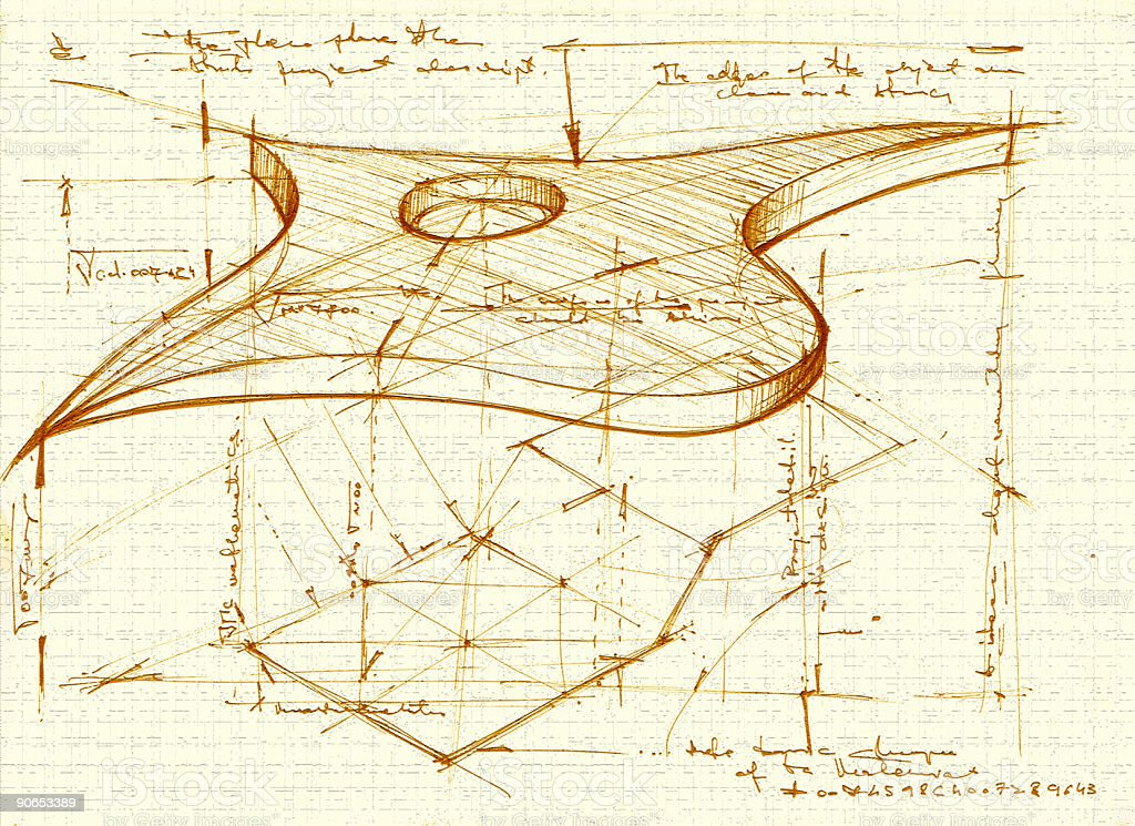 flying object sketch1 royalty-free stock photo