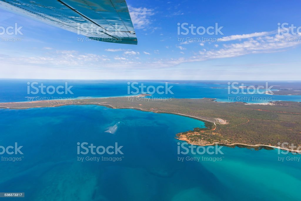 Flying over Cape Leveque stock photo