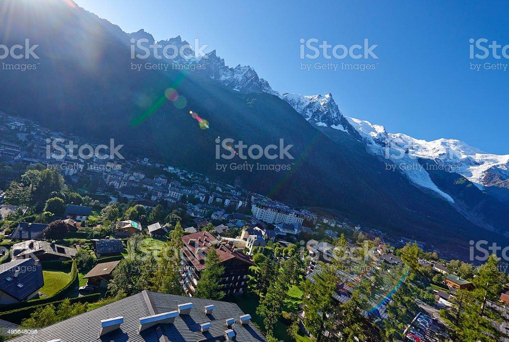 Flying Over Chamonix stock photo