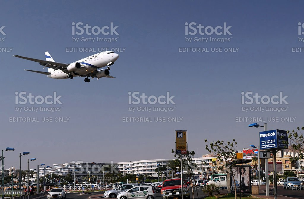 Flying Over Eilat stock photo