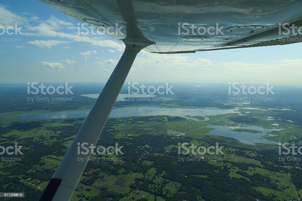 Flying over Florida stock photo