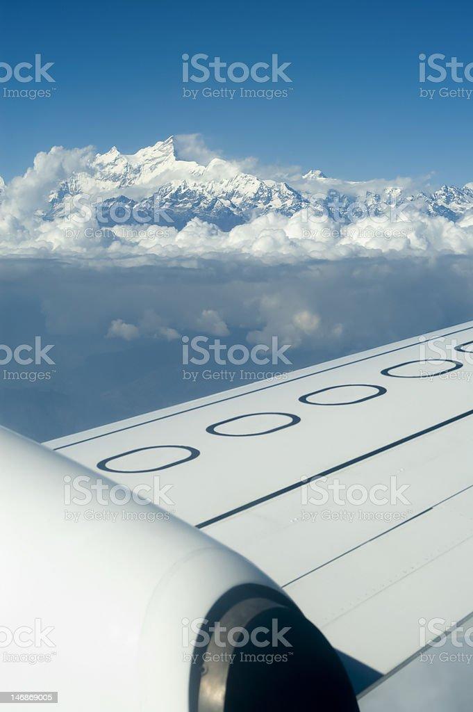 Flying over himalaya royalty-free stock photo