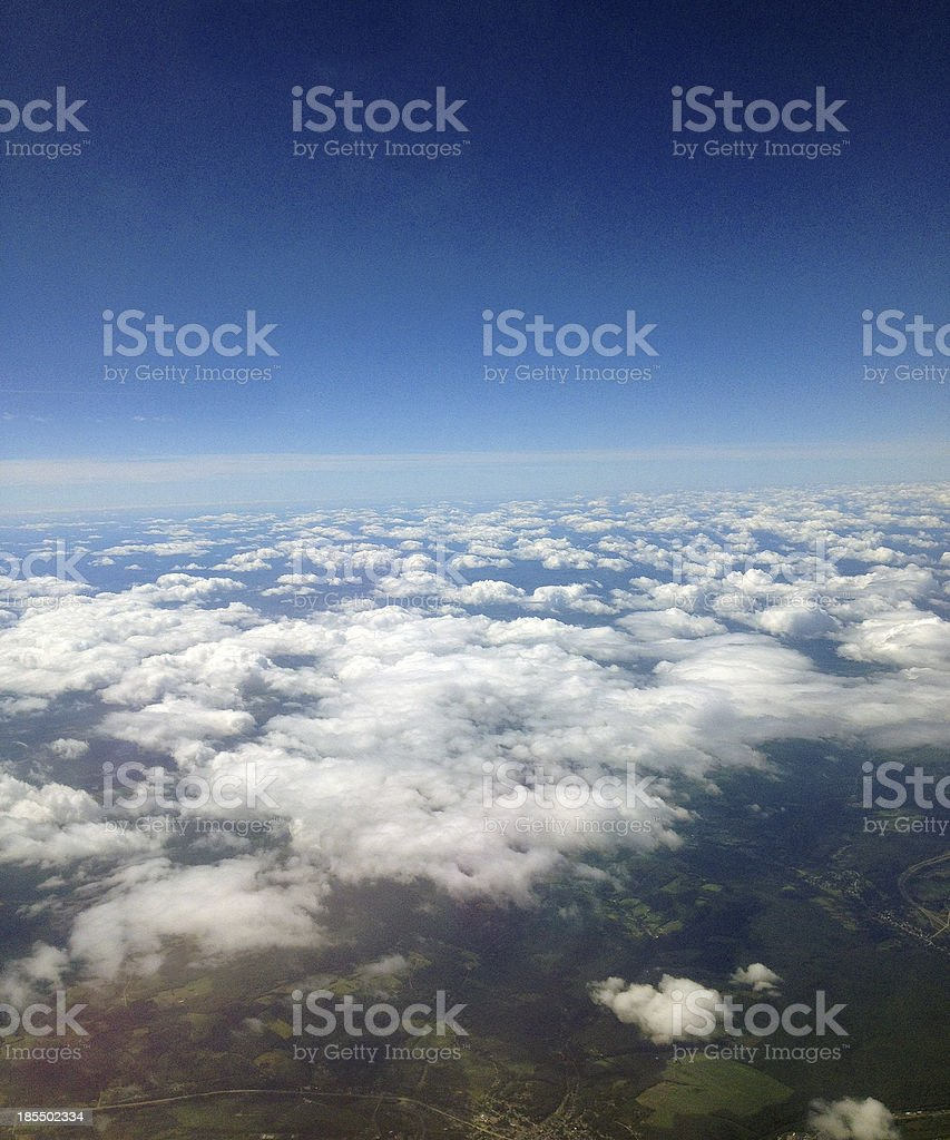 Flying Over Land royalty-free stock photo