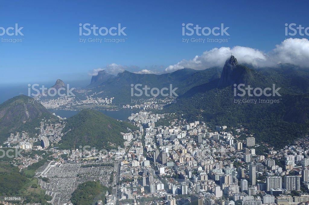 Flying over Rio de Janeiro royalty-free stock photo