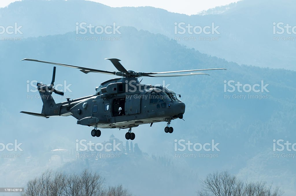 Flying over the hills royalty-free stock photo