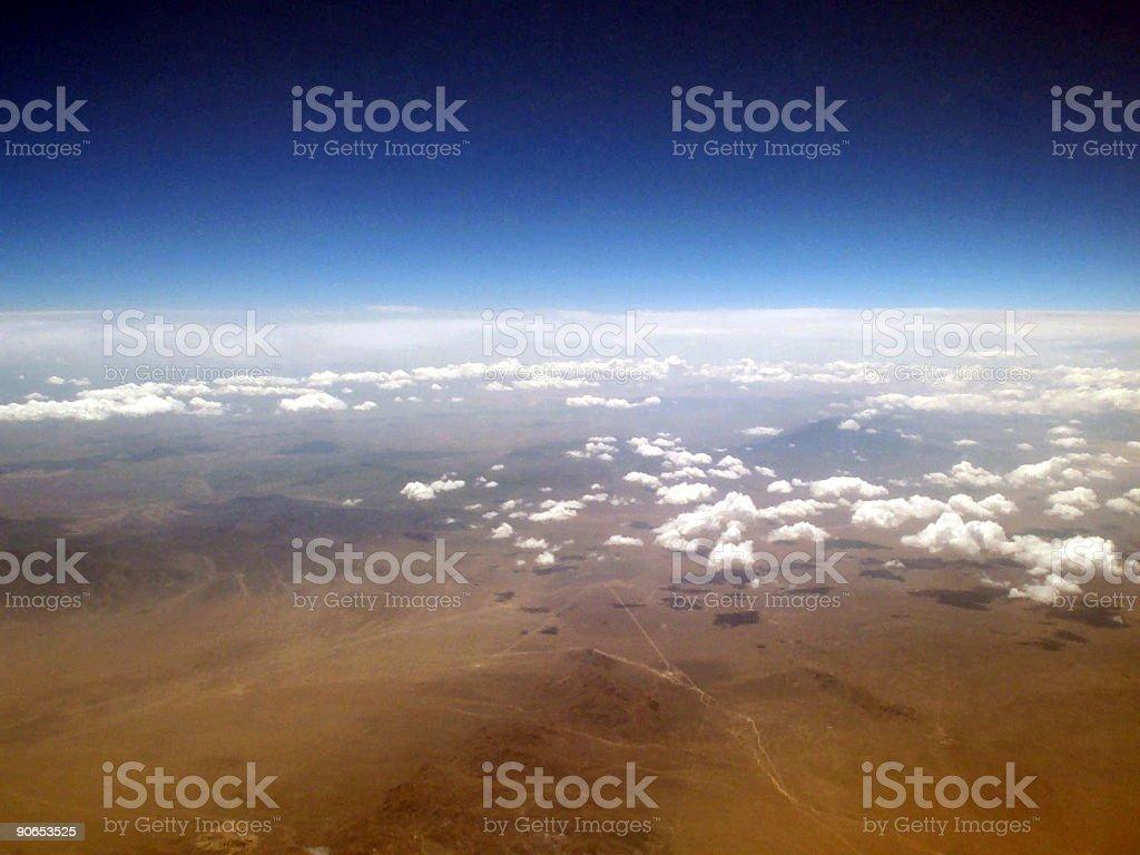 Flying over the Nevada desert 4 royalty-free stock photo