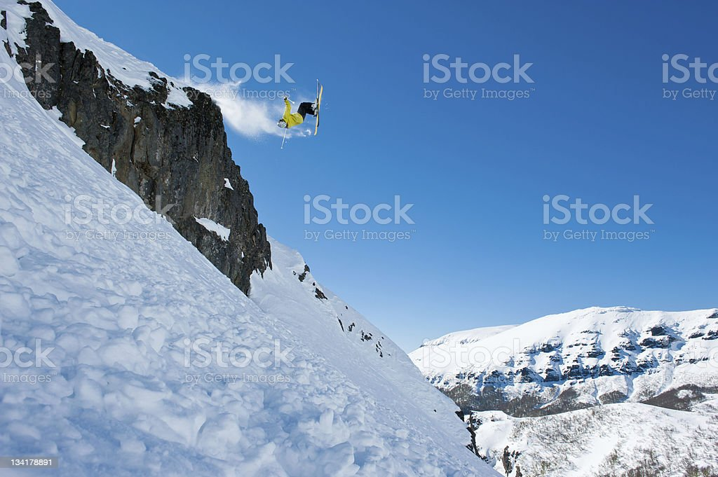 Flying over the rocks royalty-free stock photo
