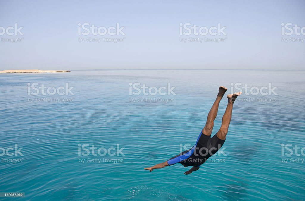 Flying over the sea royalty-free stock photo