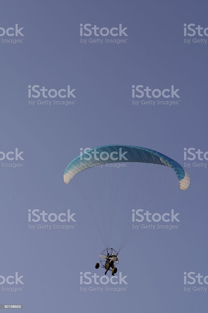 Flying paraglider in the sky 2 stock photo