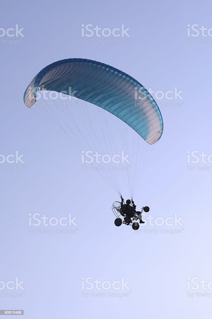 Flying paraglider in the sky 3 stock photo