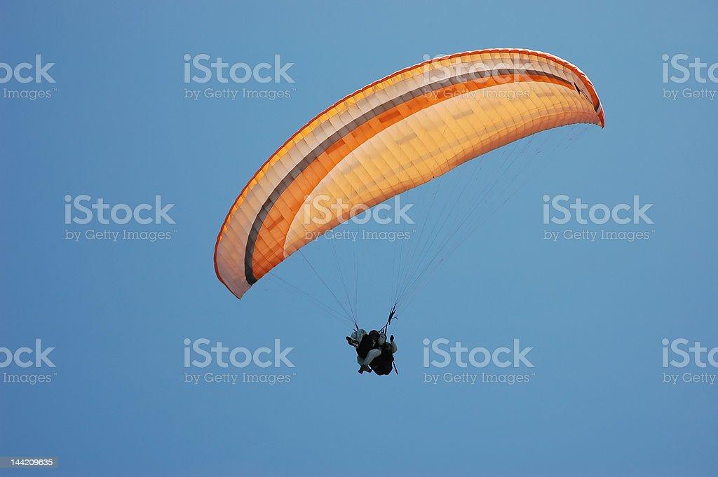 Flying para-plan stock photo