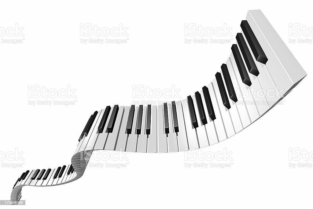 flying piano keys stock photo