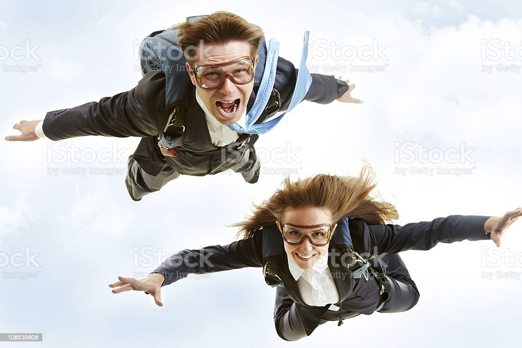 Flying stock photo