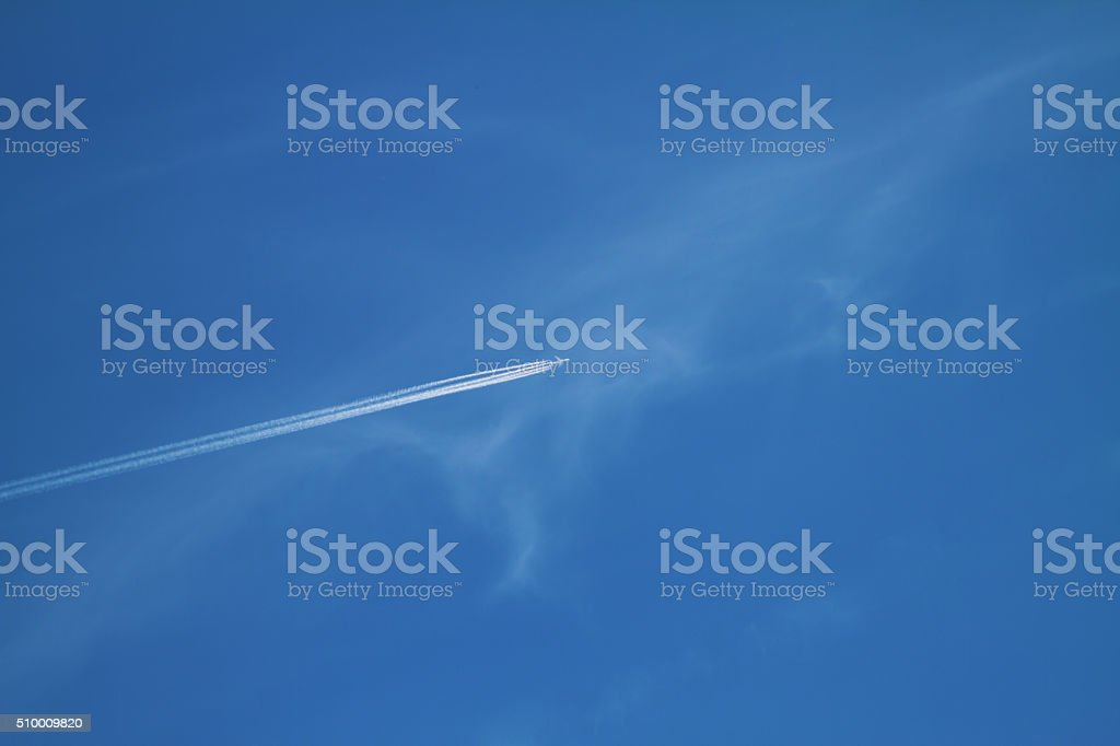 Flying plane. stock photo