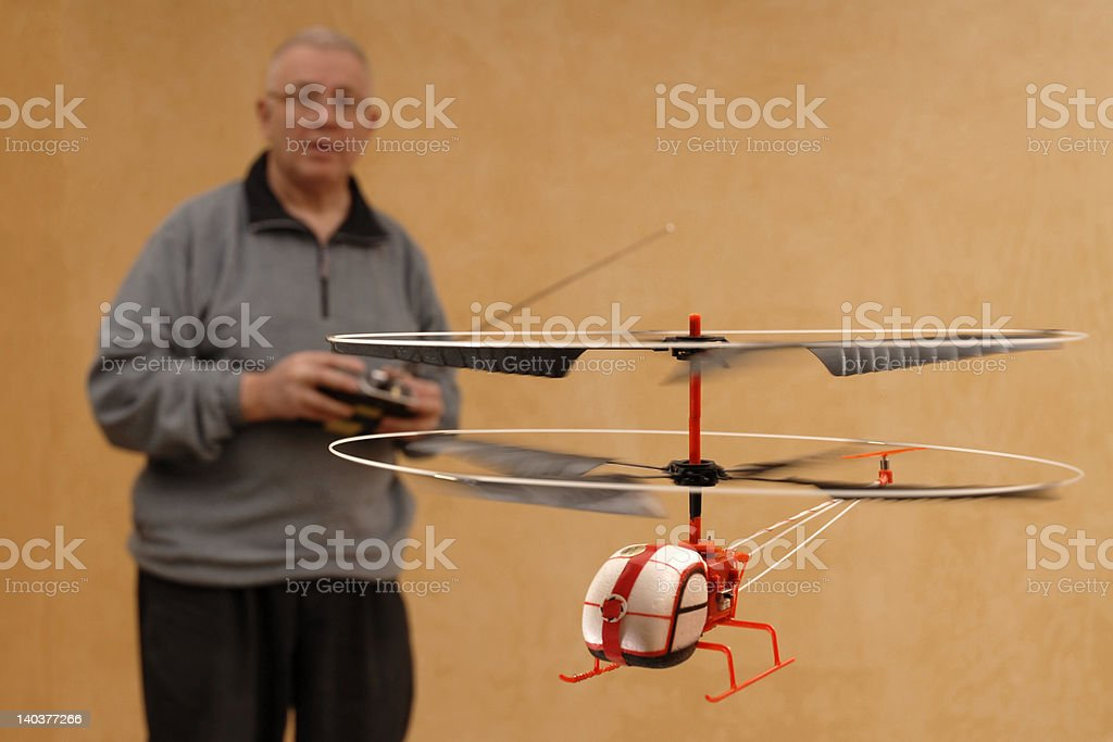 Flying RC Helicopter royalty-free stock photo