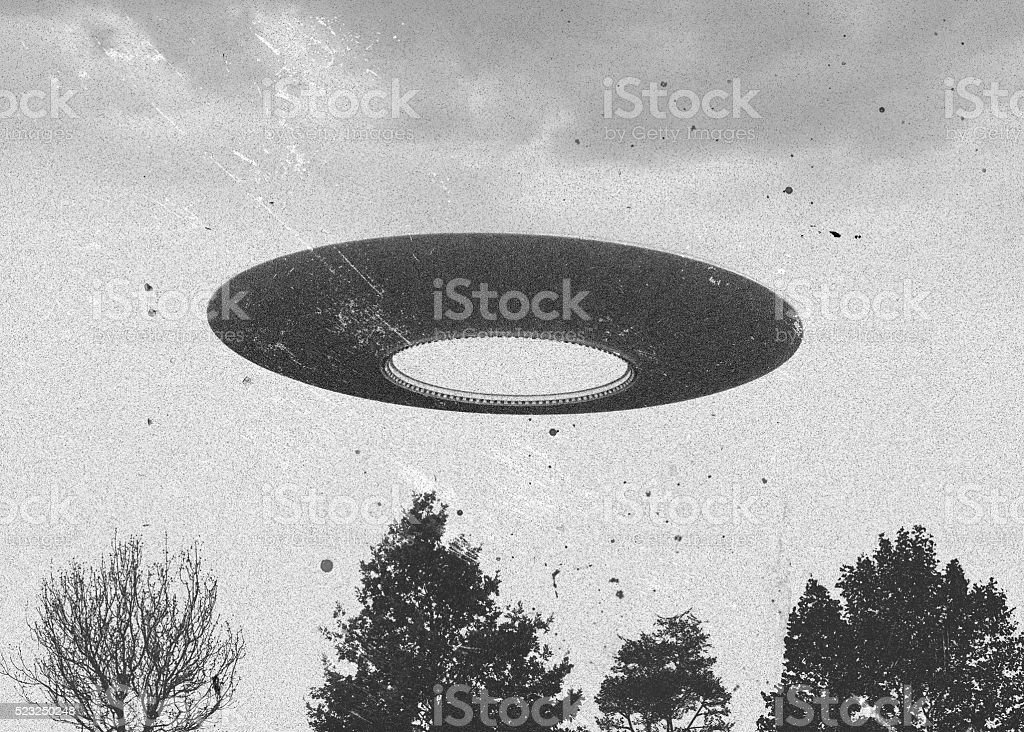Flying saucer stock photo