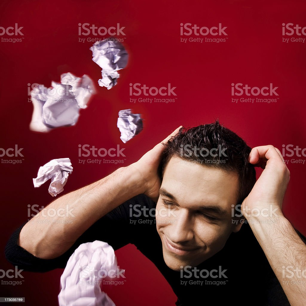 flying scrunched paper royalty-free stock photo