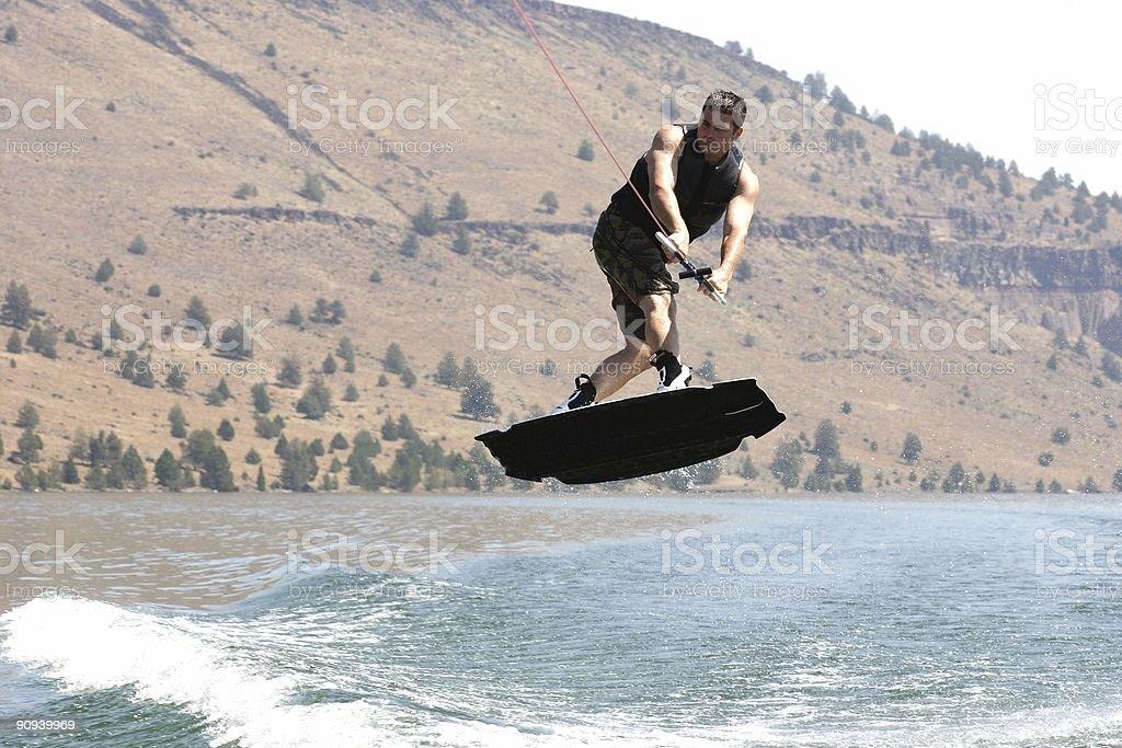 Flying Sideways. royalty-free stock photo
