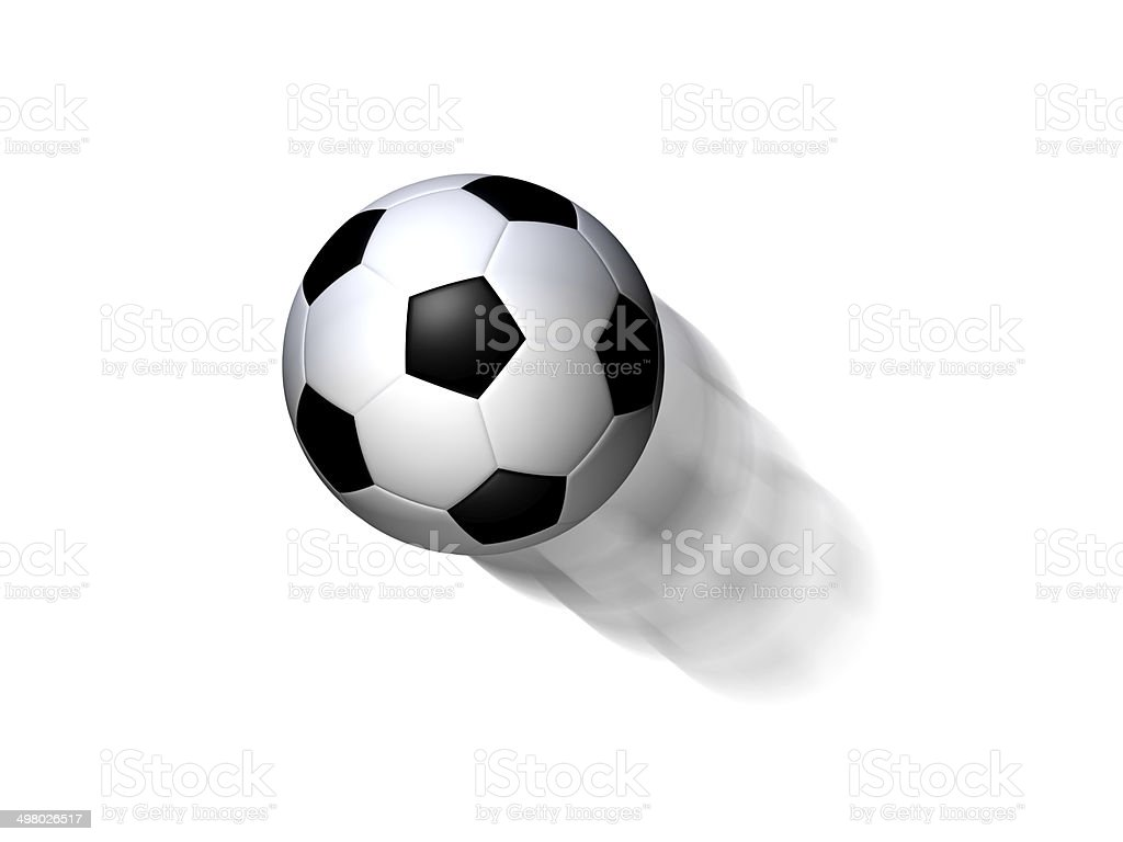 Flying soccer ball royalty-free stock photo