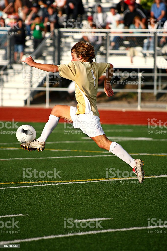 Flying Soccer Touch royalty-free stock photo