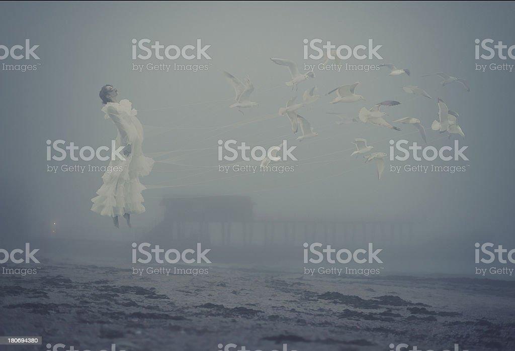 flying soul stock photo