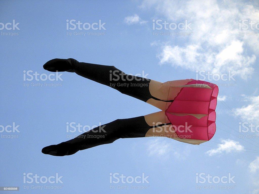 flying stocking royalty-free stock photo