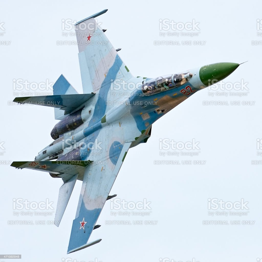 Flying Su-34 royalty-free stock photo