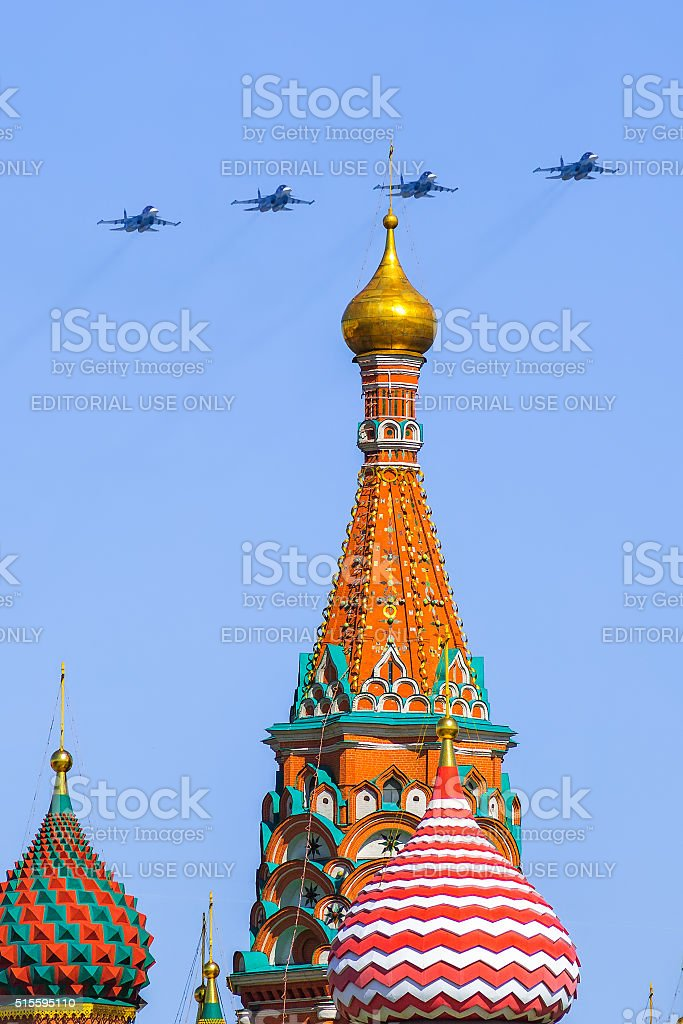 Flying Sukhoi Su-34 stock photo