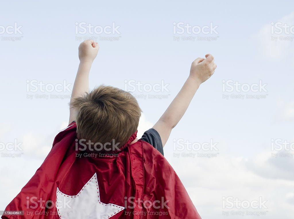 Flying superchild royalty-free stock photo