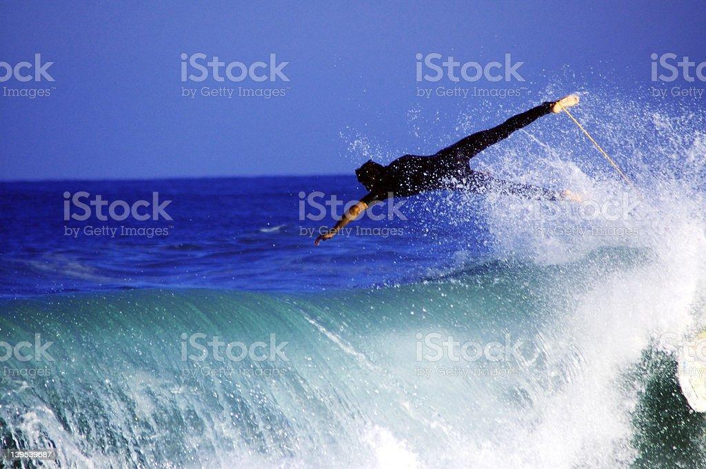flying surfer stock photo