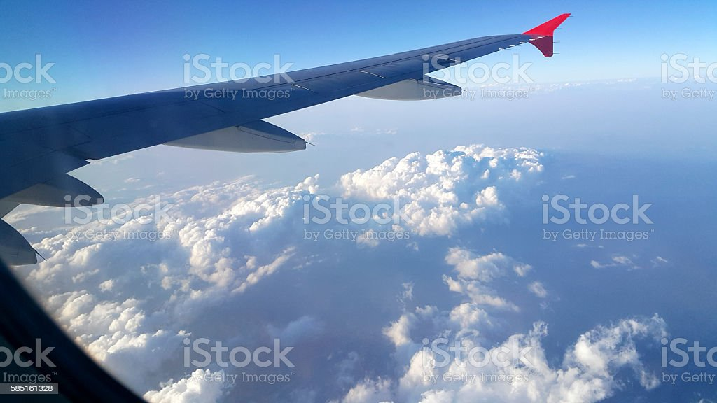 Flying Through The Clouds stock photo