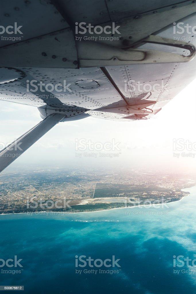 Flying To Tanzania Mainland stock photo
