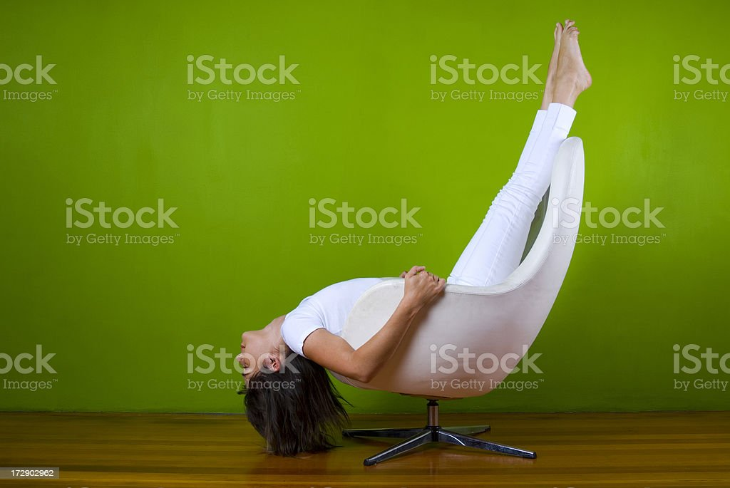 Flying Upside down royalty-free stock photo