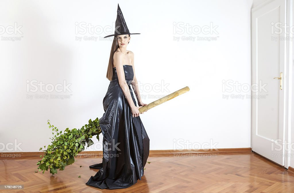 flying witch royalty-free stock photo