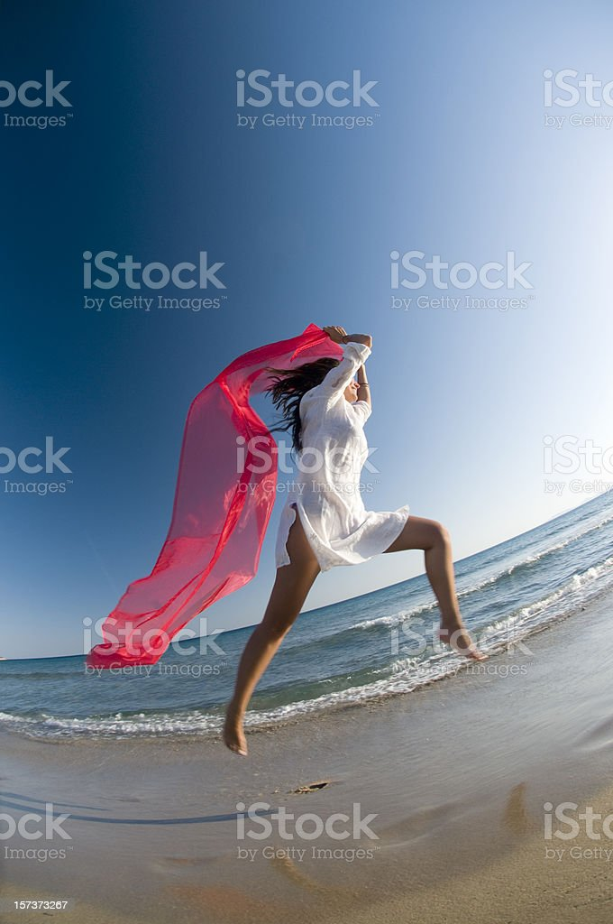 flying with tulle royalty-free stock photo